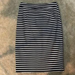 Boden stripped pencil skirt